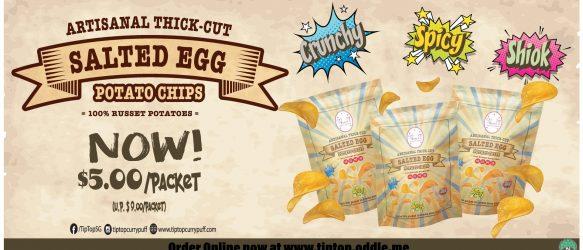 NEW Salted Egg Potato Chips